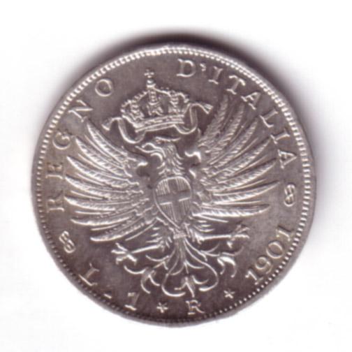 1 Lira Vittorio Emanuele III (Aquila Sabauda)
