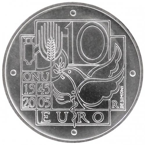 10 Euro 60°Anniversario Onu 2005