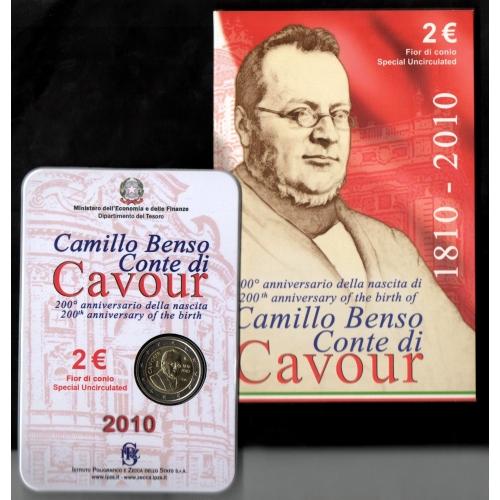 2 Euro Camillo Benso Conte di Cavour 2010