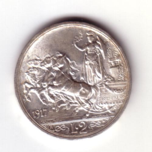 2 Lire Vittorio Emanuele III (Quadriga briosa)