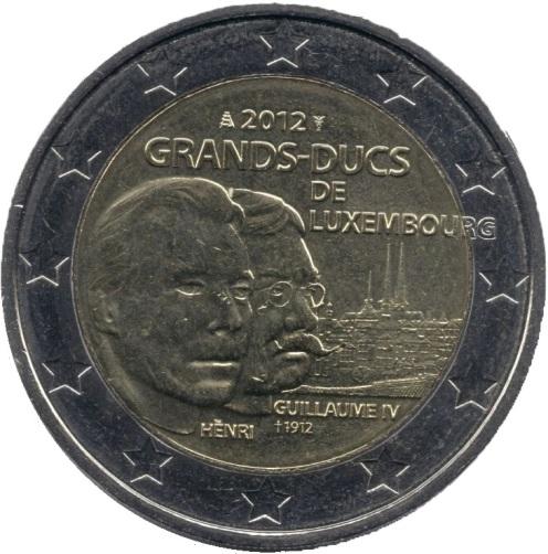 2 Euro Lussemburgo 2012