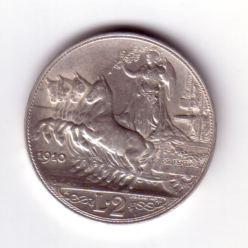 2 Lire Vittorio Emanuele III (Quadriga Veloce)