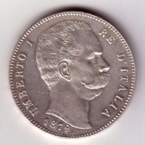 5 Lire Umberto I 1879