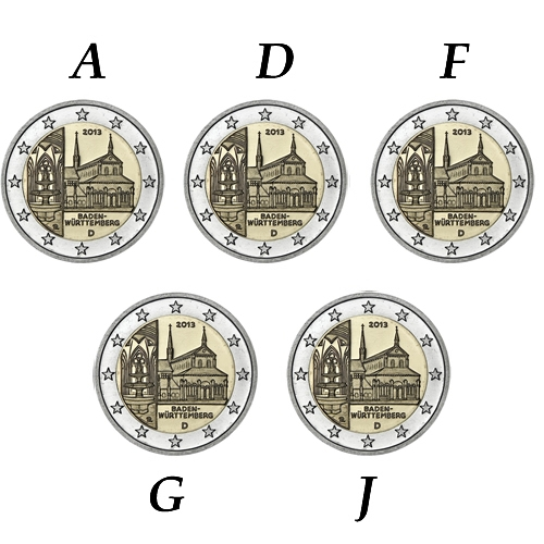 2 Euro Gremania 5 zecche 2013
