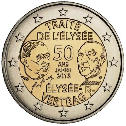 2 Euro Francia 50° Anniversario del Trattato dell' Eliseo