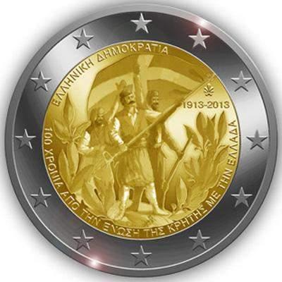 2 Euro Grecia Unione di Creta alla Grecia