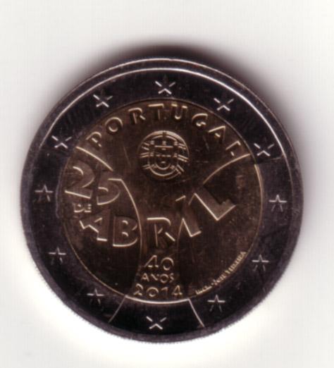 2 Euro Portogallo 2014