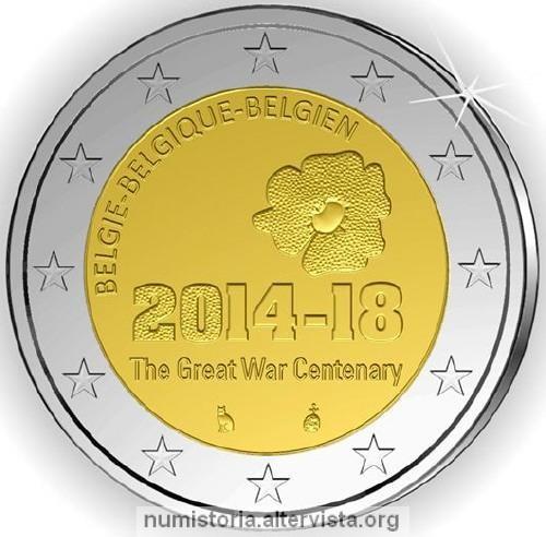 2 Euro Belgio 2014