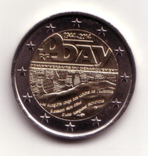 2 Euro Francia 2014
